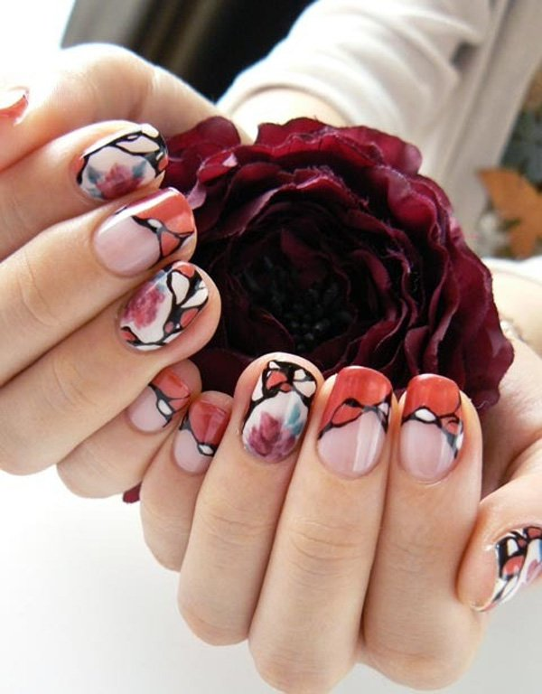 55 Beautiful Japanese Nail Art Designs (28)