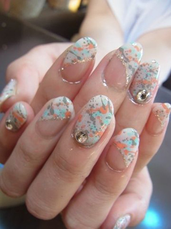 55 Beautiful Japanese Nail Art Designs (34)