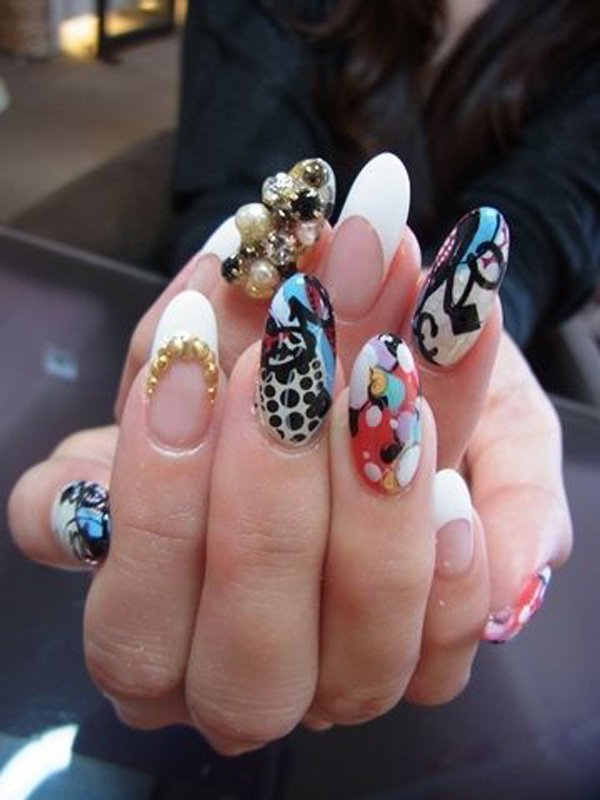 55 Beautiful Japanese Nail Art Designs (38)