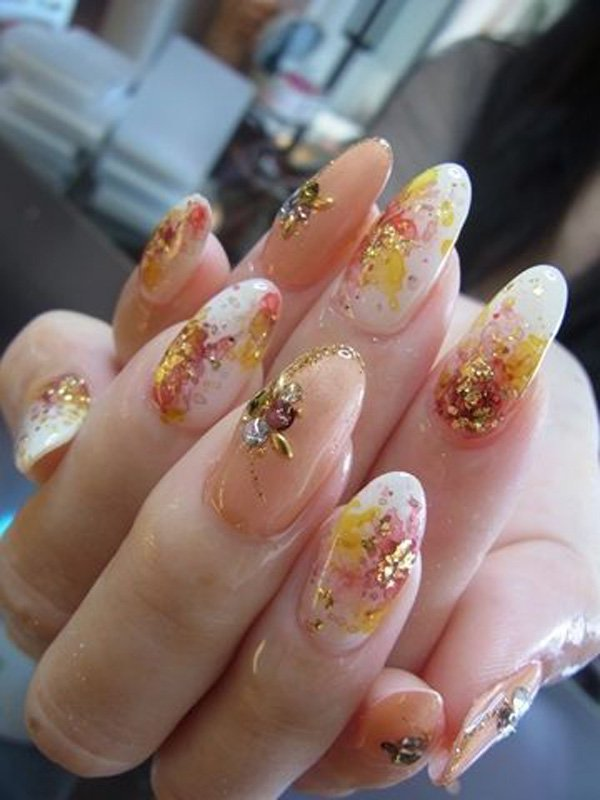 55 Beautiful Japanese Nail Art Designs (40)