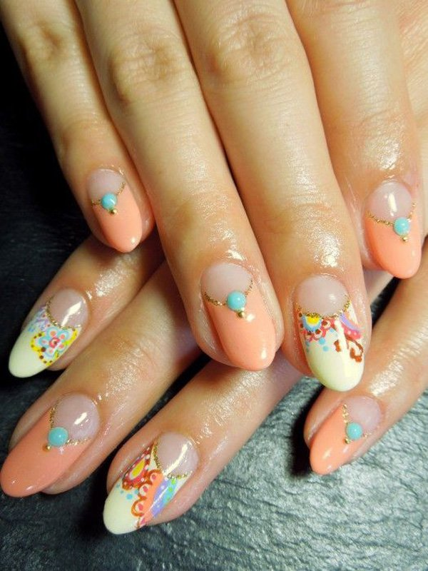 55 Beautiful Japanese Nail Art Designs (41)