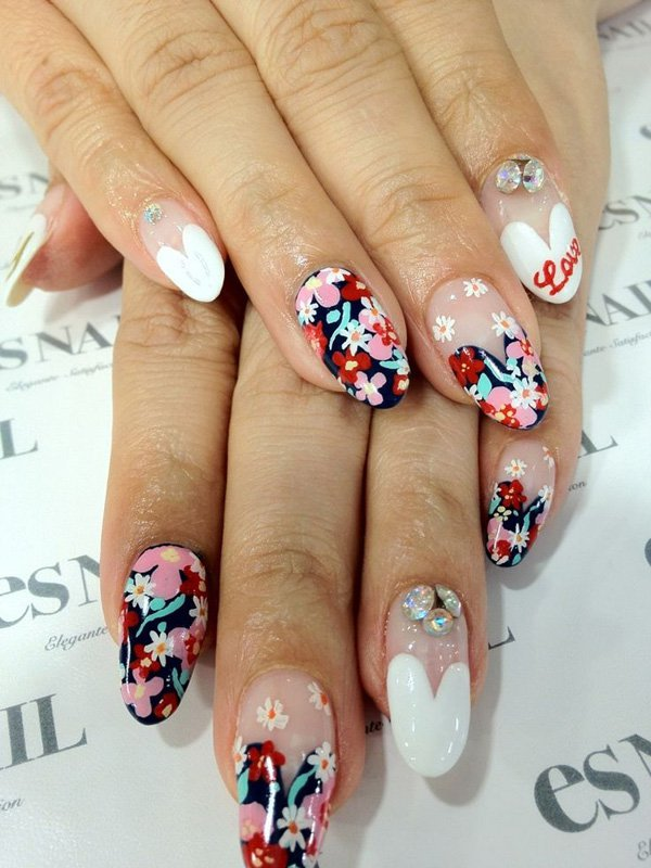 55 Beautiful Japanese Nail Art Designs (43)