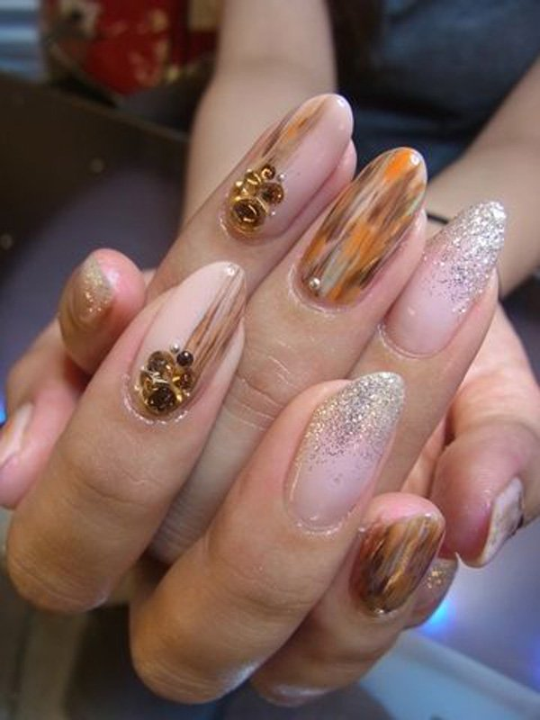 55 Beautiful Japanese Nail Art Designs (45)