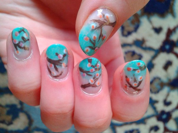 55 Beautiful Japanese Nail Art Designs (5)