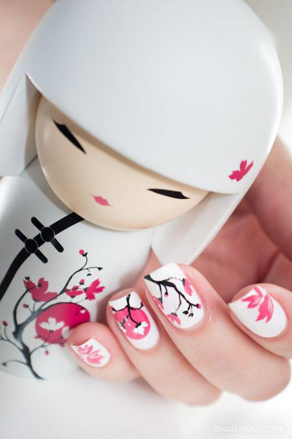 55 Beautiful Japanese Nail Art Designs (53)