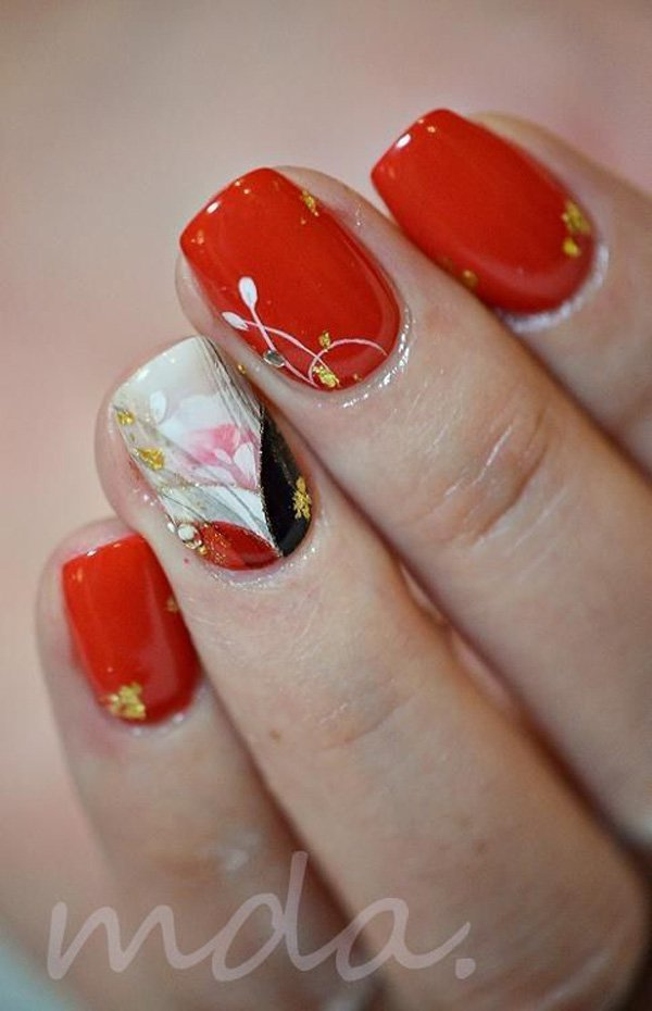 55 Beautiful Japanese Nail Art Designs (55)