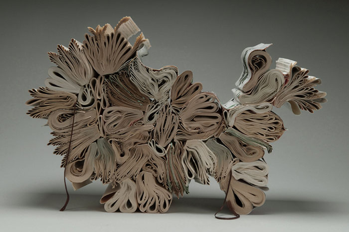 Beautiful Sculptures made from  Old Books by Jacqueline rush lee (10)