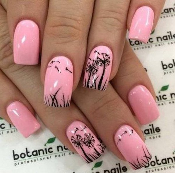 Cute Dandelion Nail Art Designs (13)