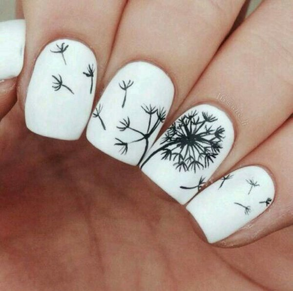 Cute Dandelion Nail Art Designs (14)