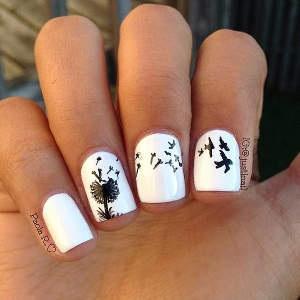 Cute Dandelion Nail Art Designs (18)