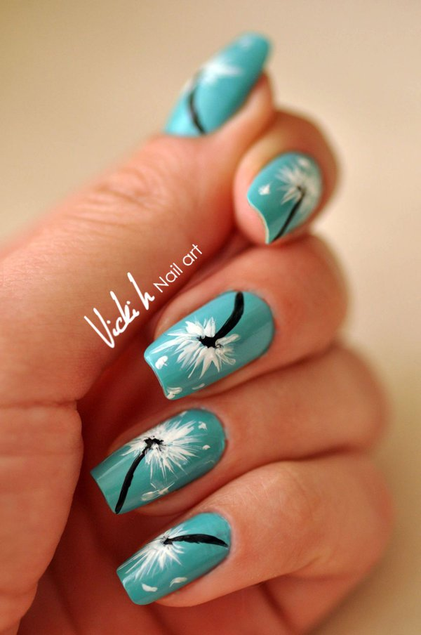 Cute Dandelion Nail Art Designs (2)