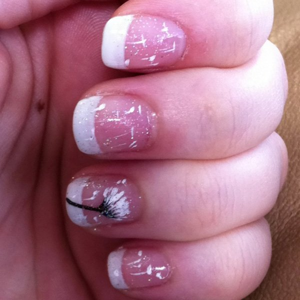 Cute Dandelion Nail Art Designs (21)