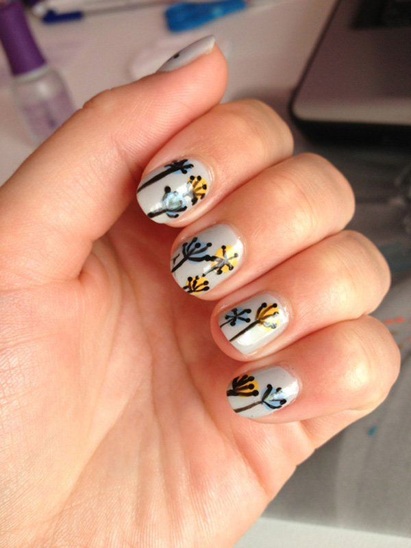 Cute Dandelion Nail Art Designs (25)