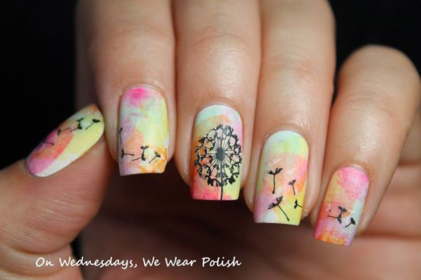 Cute Dandelion Nail Art Designs (3)