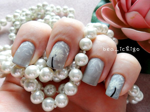 Cute Dandelion Nail Art Designs (5)