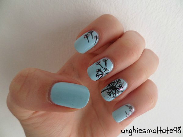 Cute Dandelion Nail Art Designs (6)
