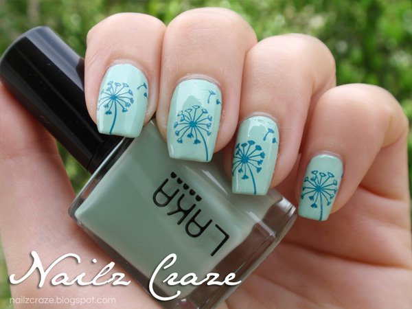 Cute Dandelion Nail Art Designs (7)