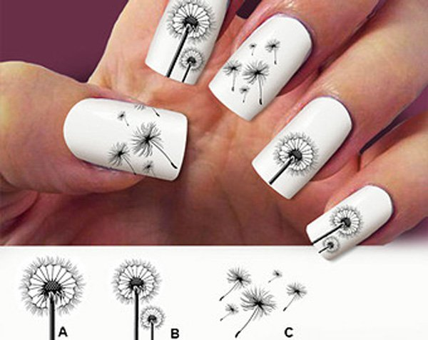 Cute Dandelion Nail Art Designs (8)