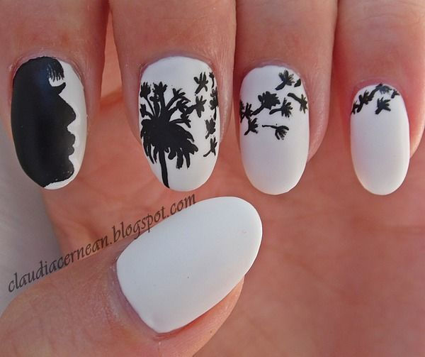 Cute Dandelion Nail Art Designs (9)