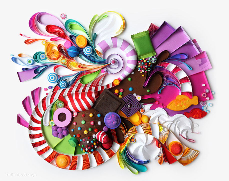 Colorful Illustrations Using Colored Paper by Yulia Brodskaya (2)