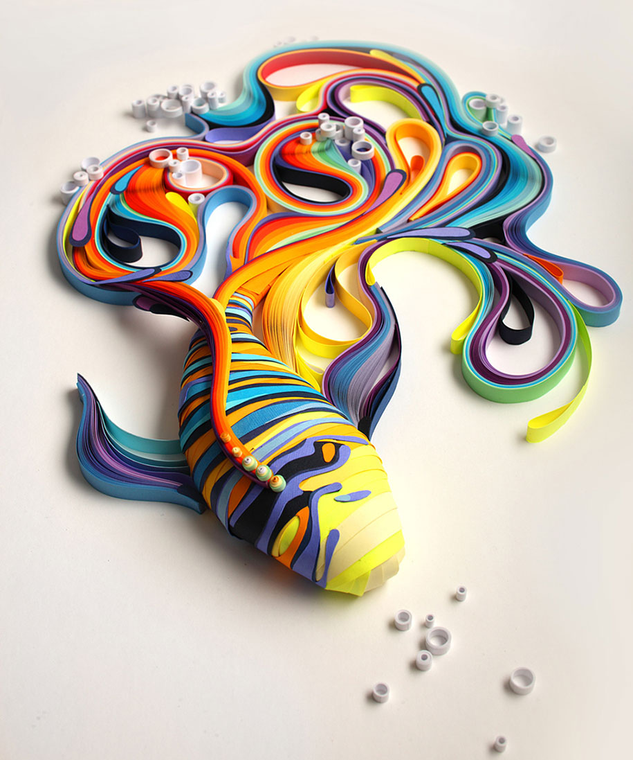 Colorful Illustrations Using Colored Paper by Yulia Brodskaya (5)