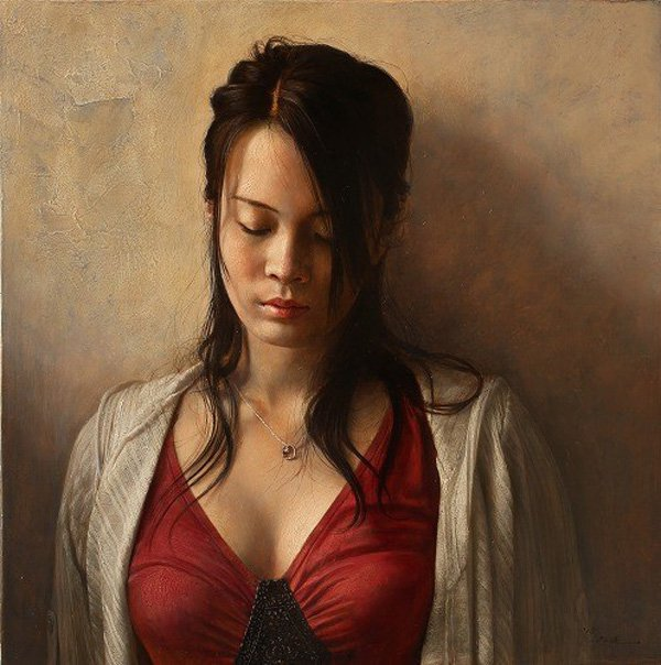 Portrait Paintings by Osamu Obi (11)