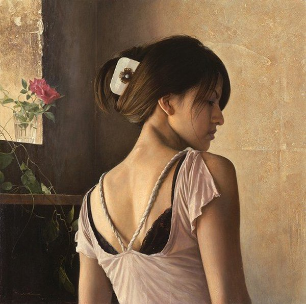 Portrait Paintings by Osamu Obi (7)