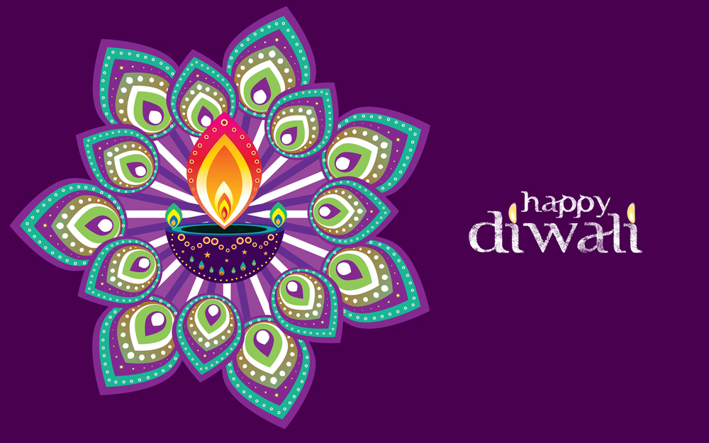 happy diwali 2014 rangoli wallpaper