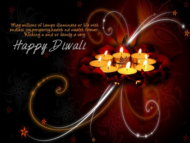 colorful diwali greetings