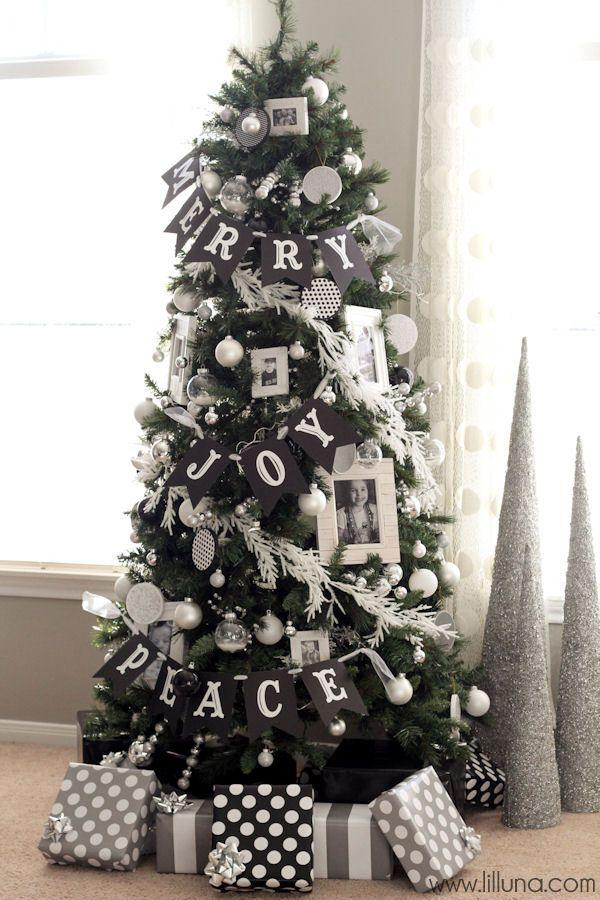 Christmas-tree-decoed-with-Childrens-photo-Frames