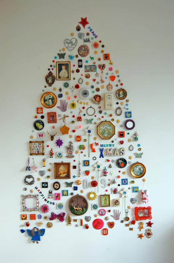 DIY-christmas-tree-wall-decor