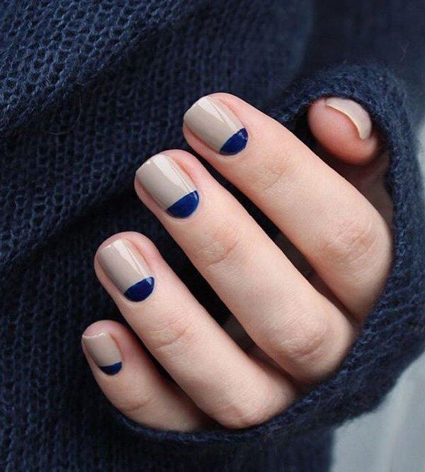 stunning half moon nail art ideas incredible snaps