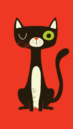 iphone-red-cat