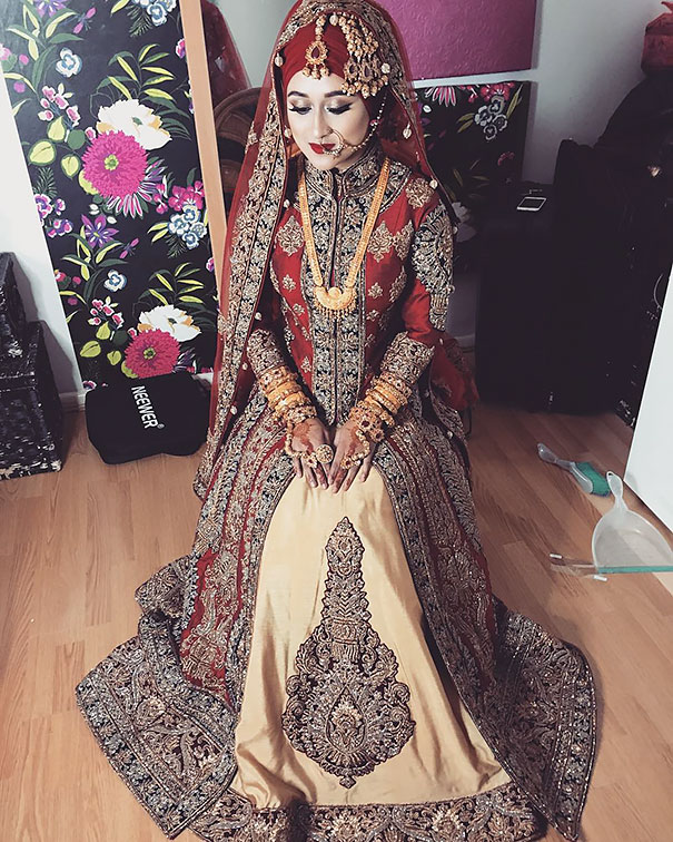 a4af51fe57d Gorgeous Brides Wearing Hijabs On Their Wedding Day Look Stunning ...