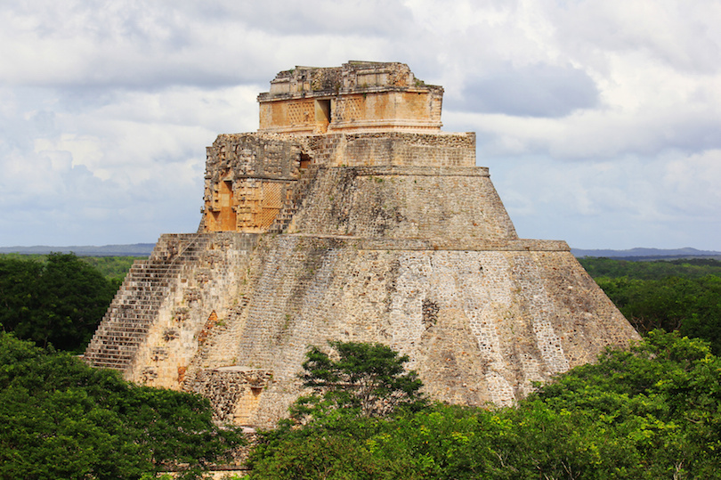 Pyramid of the Magician. Maya complex of Uxmal. Mexico
