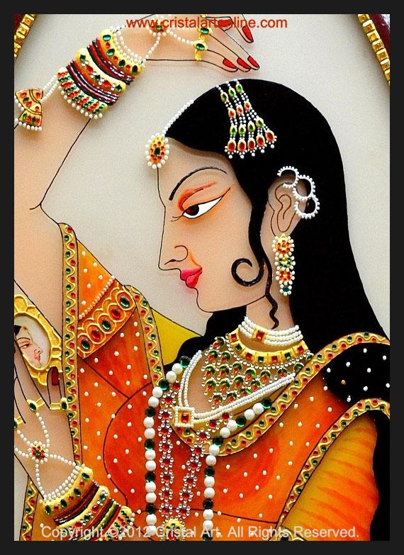 1-rajput-painting-princess-by-cristalartonline