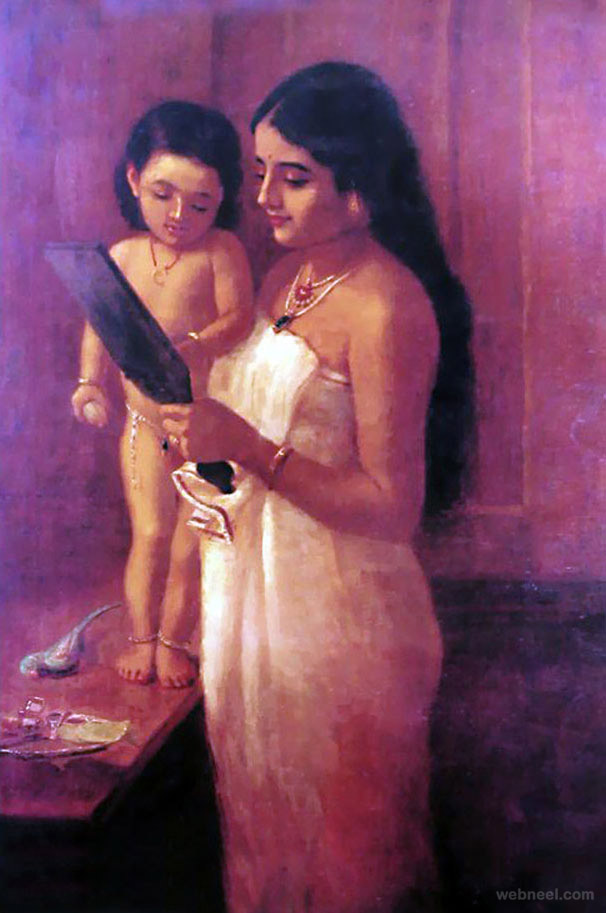 13-looking-mirror-ravi-varma-paintings