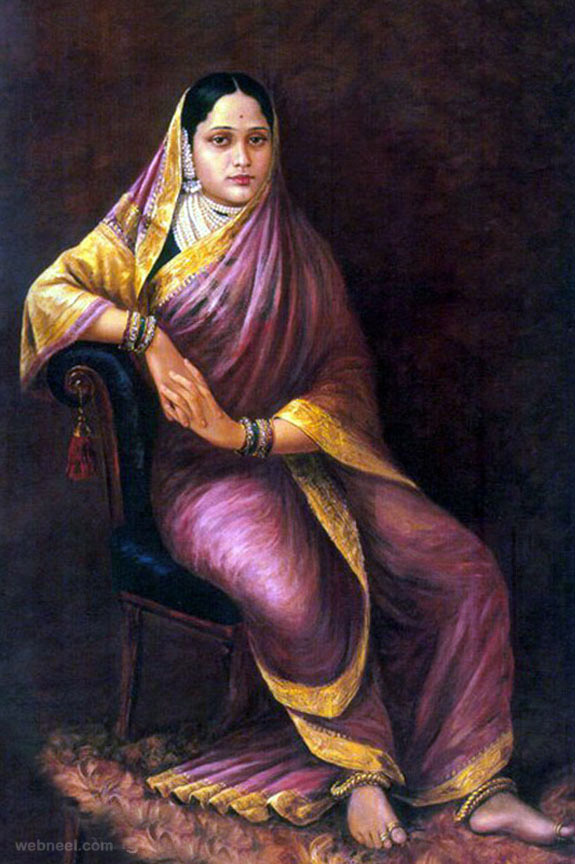 14-maharani-chimanbai-ravi-varma-paintings