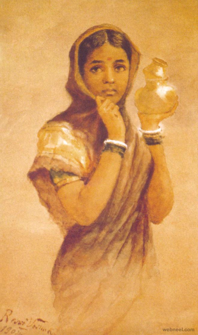 4-milk-maid-ravi-varma-paintings