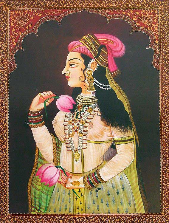 6-queen-rajasthani-rajput-painting-by-exoticindiaart