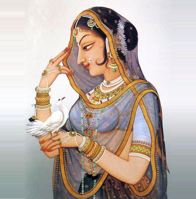 7-queen-padminrajasthani-rajput-painting