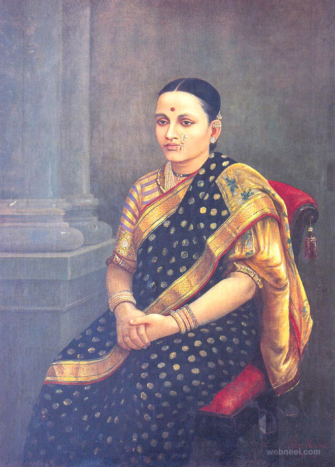 9-woman-portrait-ravi-varma-paintings
