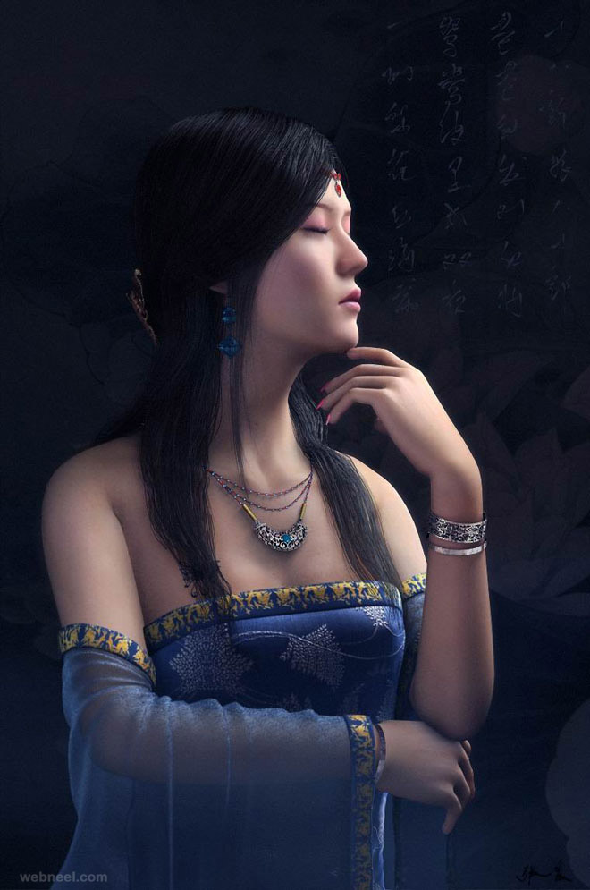 1-chinese-woman-3d-character-by-zhang-chen