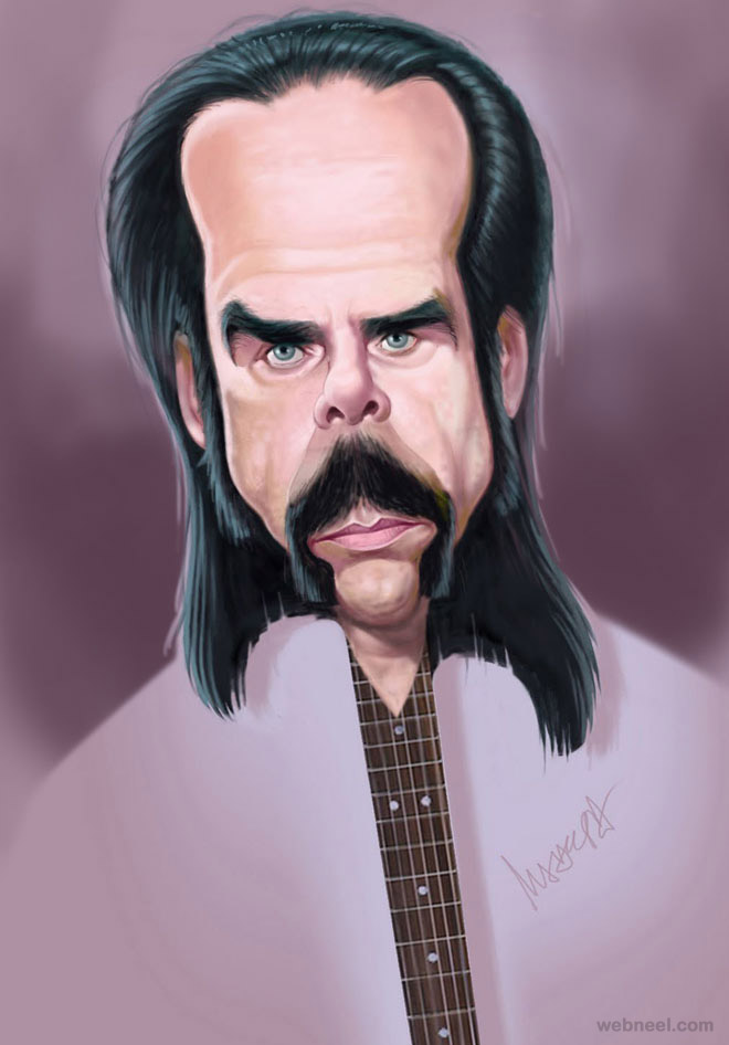 10-nick-cave-caricature-by-mahesh