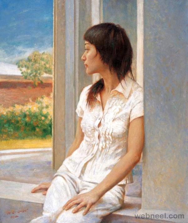 15-beautiful-woman-painting-hongqing
