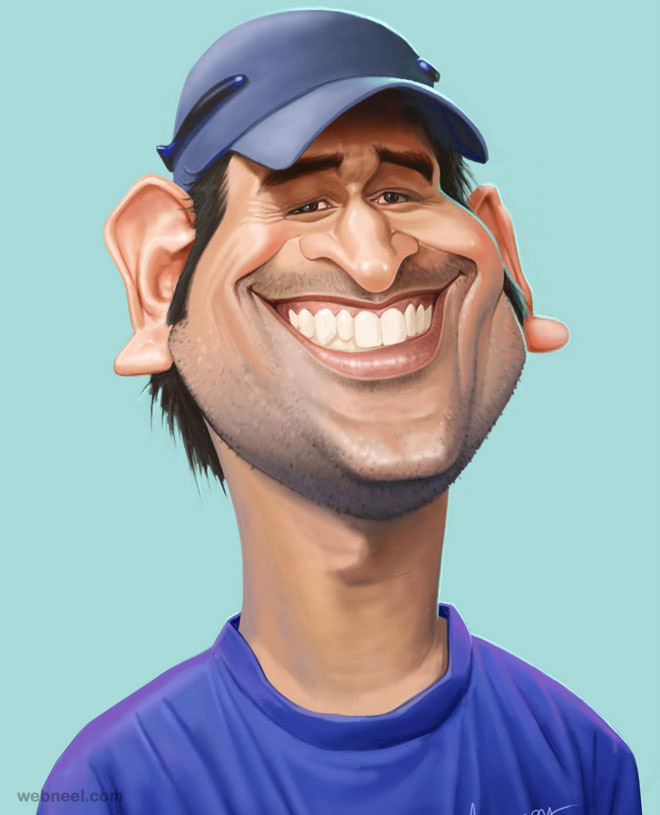 17-dhoni-caricature-by-mahesh