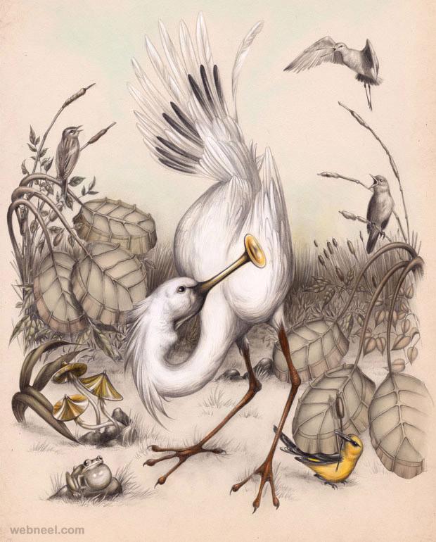 3 bird drawing