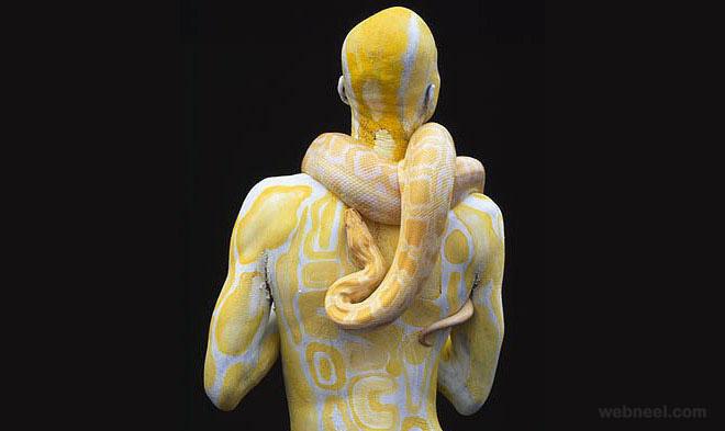 3-body-painting-snake