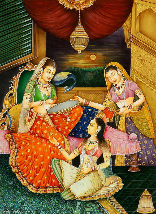 13-mughal-paintings-women