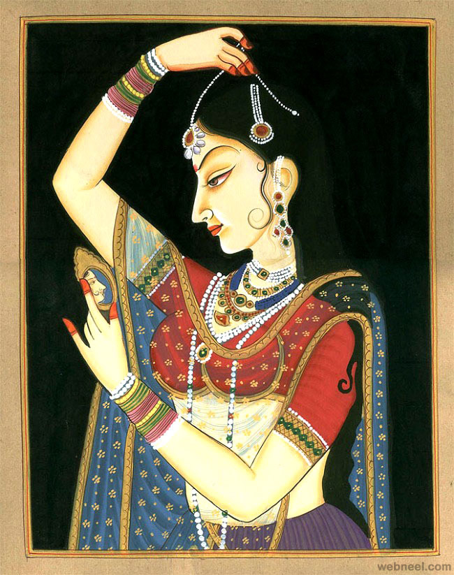 6-mughal-paintings-woman